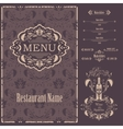 Restaurant menu design template vector image