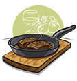 Steak vector image