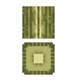 Texture for platformers pixel art - green vector image
