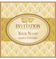 vintage background and frame with sample text vector image