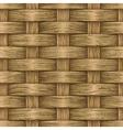 Vintage wooden basket vector image