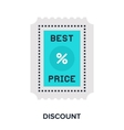 discount flat concept vector image