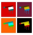 assembly flat icons knife blood vector image