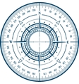 Radar compass rose vector image vector image