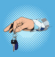 hand giving the key vector image vector image