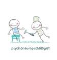 psychoneuropathologist check the patients nerves vector image vector image