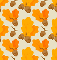 autumn oak acorn pattern vector image