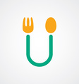 spoon and fork logo theme vector image