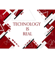 red background in technology and modern design for vector image vector image