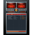 Analog Stereo MP3 Music Media Player vector image