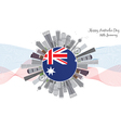 Australia Day Background with Gray Buildings vector image
