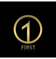 First Place icon vector image