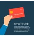 Flat plastic credit card vector image