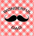 Graphic for fathers day vector image