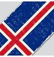Icelandic grunge flag vector image