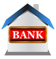 Symbol of the bank vector image