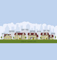 urban cityscape with old mansions vector image