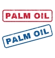 Palm Oil Rubber Stamps vector image