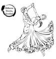 dance line ballroom dancing standard vector image