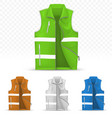unisex reflective vest isolated on transparent vector image