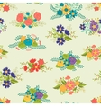 Romantic seamless pattern of floral bouquets in vector image