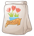 A pack of flower seeds vector image vector image