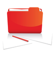red folder and paper vector image
