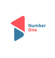 Number one 1 logo icon design template elements vector image