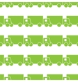 Green trucks seamless pattern vector image