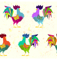 Abstract Rooster Cock silhouette in style of vector image