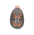 backpack in dark colors vector image