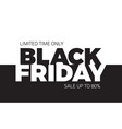 black friday sale backround vector image