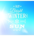 Bright Winter Sun Typography Greeting Card vector image