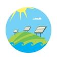 Clean energy banner Sun power generation vector image