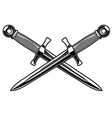 crossed dagger vector image