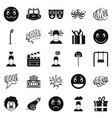 emotional icons set simple style vector image