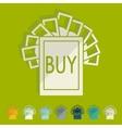 Flat design buy sign vector image