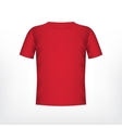 Mens red t-shirt vector image vector image