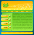 Eco friendly nature webdesign layout vector image