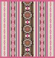 striped ornamental ethnic pattern vector image