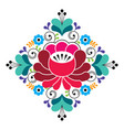 russian folk design - floral pattern colorful vector image