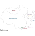 Outline Eastern Asia vector image