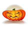 halloween pumpkin character vector image