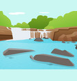 waterfall background tat ton waterfall thailand vector image