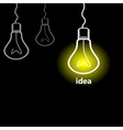 Idea a bulb vector image