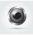 Bird button vector image vector image