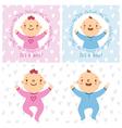 Baby girl and baby boy infants vector image