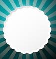 Retro Circle Blue Paper Background vector image
