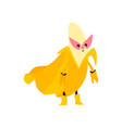 banana fruit hero superhero character guard vector image