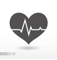 Heart beat - flat icon vector image